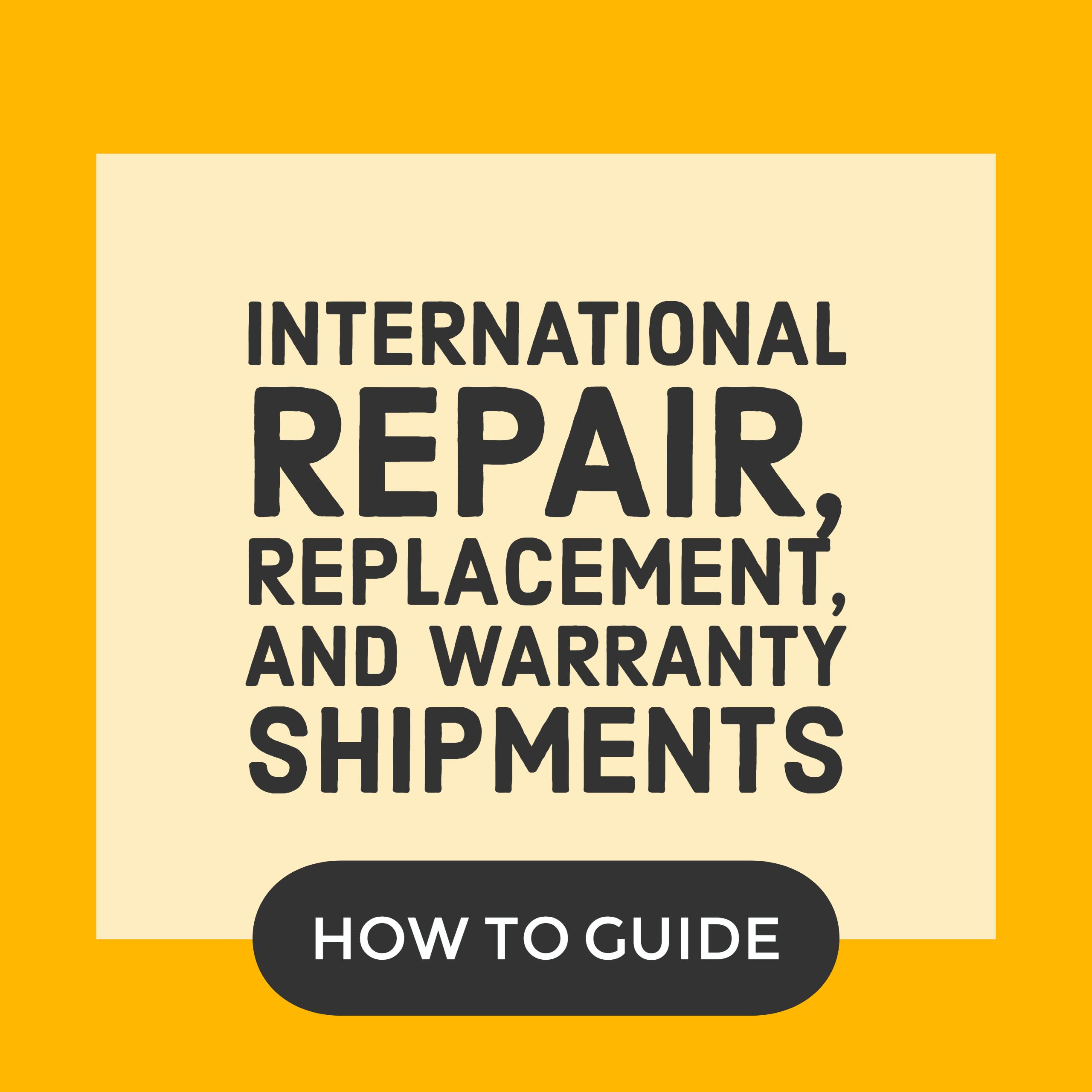 Repair replacement warranty returns preferred shipping yadclub Image collections