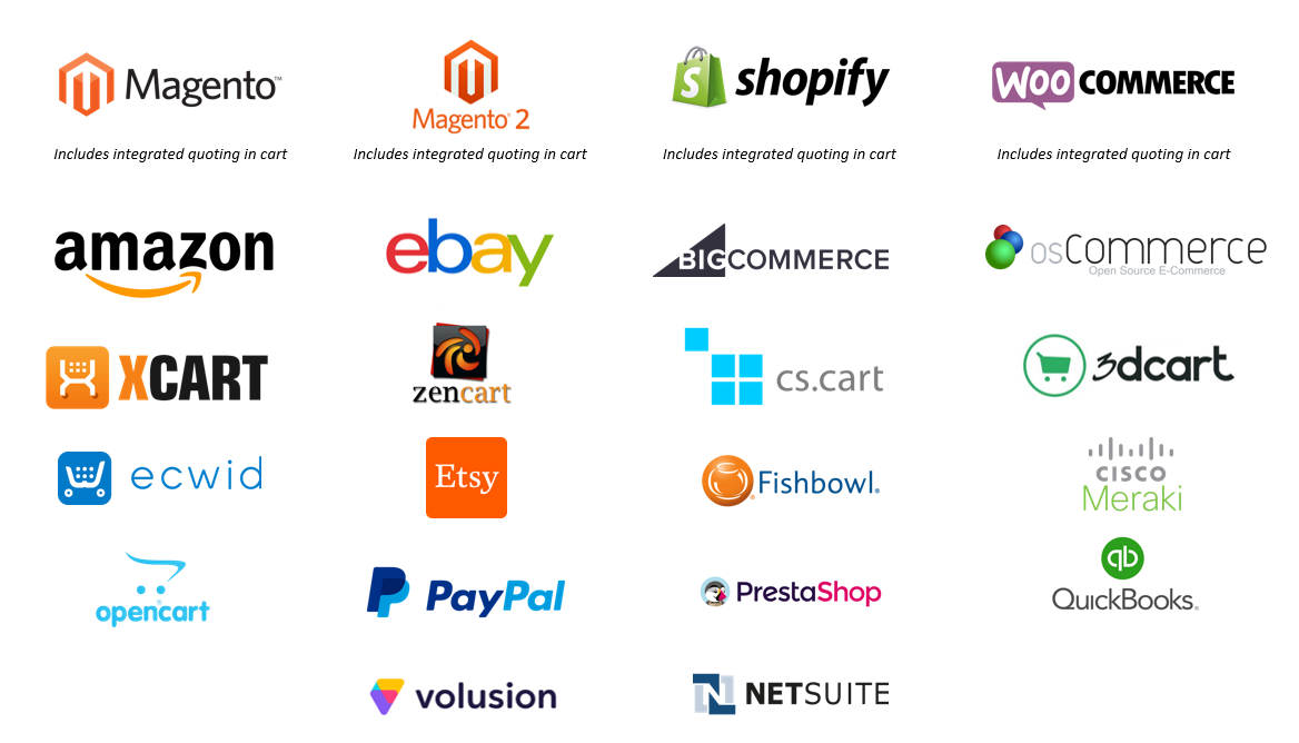 What ecommerce integrations does Preferred offer?   Preferred Shipping