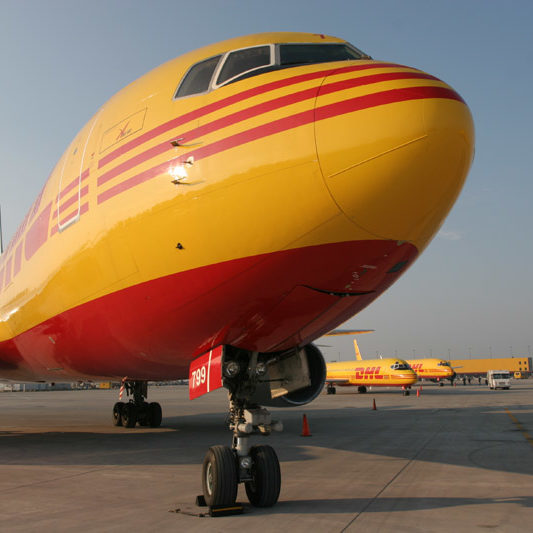 DHL Boeing 767 aircraft